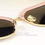 Женские солнцезащитные очки Fendi Iridia Кошачий глаз зеркальные розовые яркие ульрастильные люкс реплика, фото 5