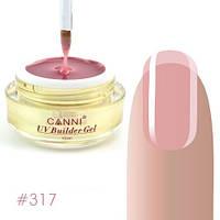 Конструирующий гель Canni 317 Thing Pink полупрозрачный, 15 мл №301, фото 1