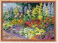Репродукция картины современных художников «В  саду» 50 х 70 см
