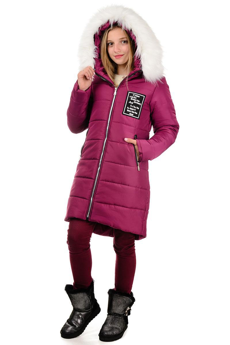 """Пальто с капюшоном """"PARIS"""" вишня"""