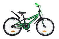 """Детский велосипед Formula Race 20"""" черно-зеленый"""