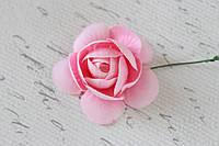 Декоративные цветы камелии диаметр 5 см розового цвета, фото 1
