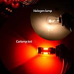 Світлодіодні лампи Carlamp 4G-Series W21W-T20 RED, фото 5
