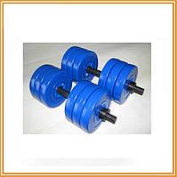 Набор битумных гантелей для упражнений Atlant  2 шт по 13 кг