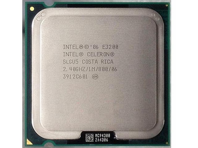 Процессор(775) Intel Celeron E3200 тактовая частота 2,40 ГГц, 1 МБ кэш-памяти, частота системной шины 800 МГц