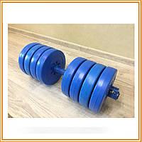 Гантели разборные (наборные) битумные купить Atlant  2 шт по 17 кг