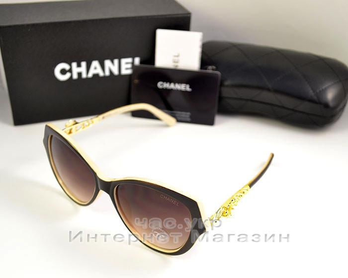 Солнцезащитные очки Chanel цветные коричневые элегантная новинка сезона качество 100% Шанель реплика