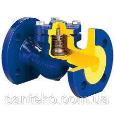Клапан обратный Ду15 подъёмный чугунный фланцевый  Ру16