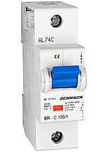 Автоматический выключатель 10кА 1P 100A х-ка C Schrack