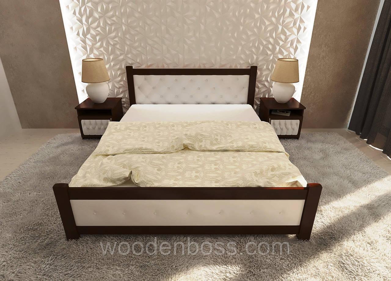"""Кровать двуспальная от """"Wooden Boss"""" Сиеста (спальное место 160х190/200)"""