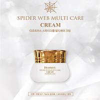 Антивозрастной увлажняющий крем для лицас протеинами паутины и гиалуроновой кислотой DEOPROCE Spider Web