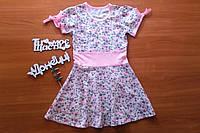 Сукня для дівчаток в квіточку рожева