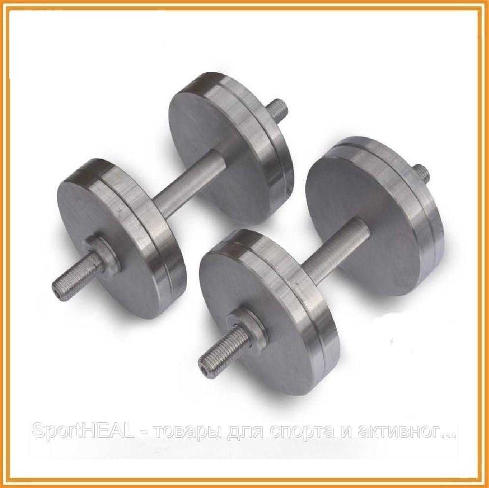 Гантели стальные наборные разборные 2х18 кг (общий вес 36 кг)