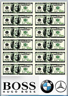 Вафельная картинка деньги доллары евро гривна