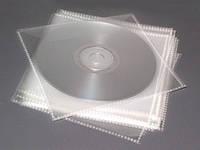 Конверт для дисков CD и DVD PP 80mic (прозрачный,полипропилен)