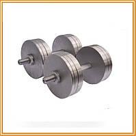 Гантели стальные наборные разборные 2х20 кг (общий вес 40 кг)