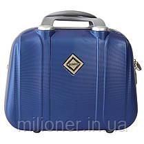 Комплект чемодан + кейс Bonro Smile (большой) синий, фото 3