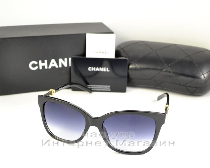 Женские солнцезащитные очки Chanel градиентная линза популярная модель всех сезонов Шанель люкс реплика, фото 1