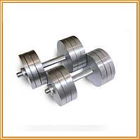 Гантели стальные наборные разборные 2х28 кг (общий вес 56 кг)
