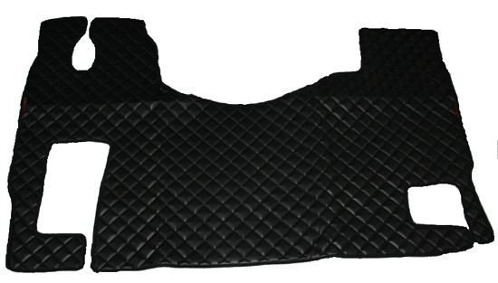 Килимки Mercedes-Benz Actros MP-2,3 чорні з 3-х частин для вантажівок(6826)