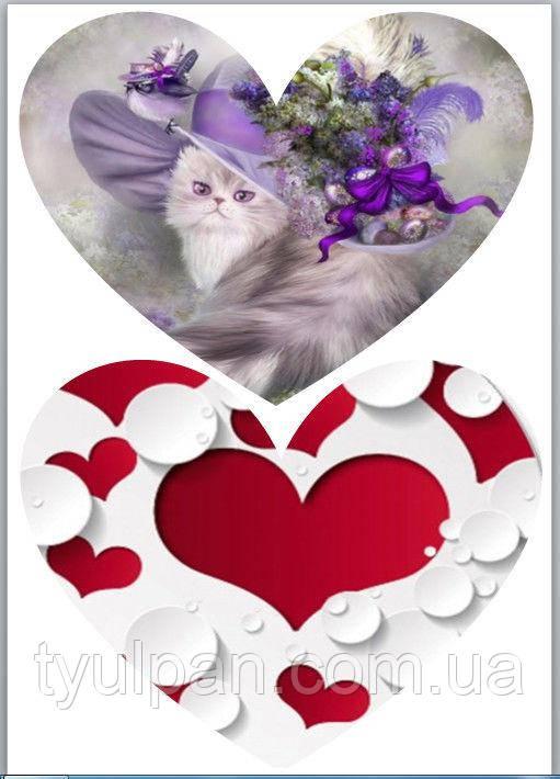 Вафельная картинка ко дню св валентина (14февраля) 22
