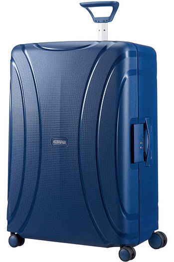 Большой пластиковый чемодан American Tourister Lock'n'roll на 4-х колесах