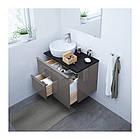 Шкаф с раковиной IKEA GODMORGON / TOLKEN / TÖRNVIKEN 82x49x74 см с ящиками глянцевый серый антрацит 091.909.15, фото 2
