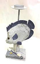 Подсвечник в морском стиле, Камбала, 26х10х7,5 см, Морские сувениры, Морские декоры
