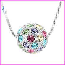 Ожерелье с элементами Swarovski разноцветный шар