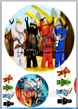 Вафельная картинка лего ниндзяго 2