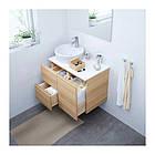Шкаф с раковиной IKEA GODMORGON / TOLKEN / TÖRNVIKEN 82x49x74 см с ящиками под беленый дуб белый 691.931.81, фото 2