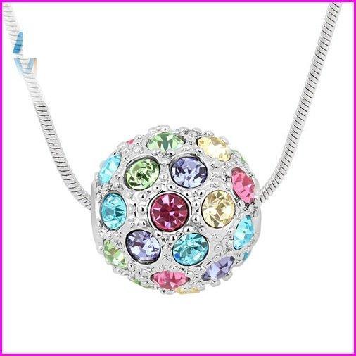 Романтичне прикраса з елементами Swarovski різнобарвний куля