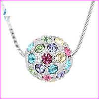Романтическое украшение с элементами Swarovski разноцветный шар