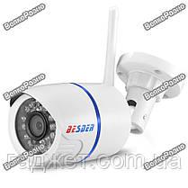 Беспроводная уличная WiFi IP камера BESDER  720Р. Наружная Wi Fi Ip камера белого цвета., фото 3