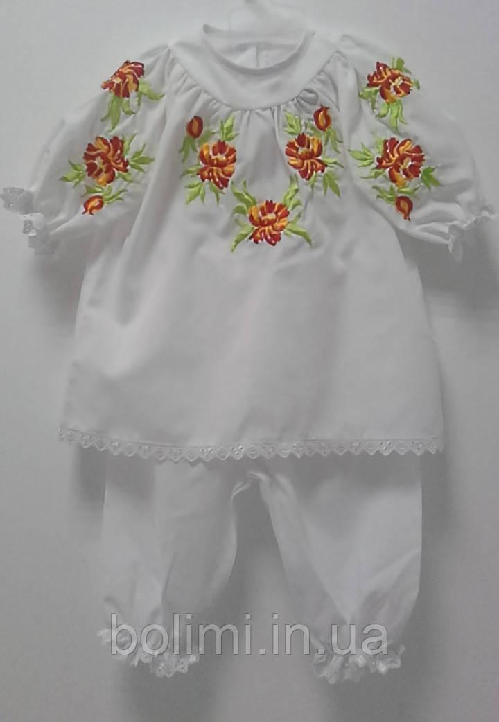 3e0d1c39263a94 Набір для хрещення дівчинки з червоними квітами НД-0909: продажа ...