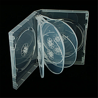 Бокс для 10 DVD дисков 33mm полупрозрачный трей, глянцевая пленка