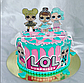 Вафельная картинка на торт  кукла лол 16, фото 10