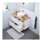 Шкаф с раковиной IKEA GODMORGON / TOLKEN / TÖRNVIKEN 102x49x74 см с ящиками белый бамбук 991.849.05, фото 2