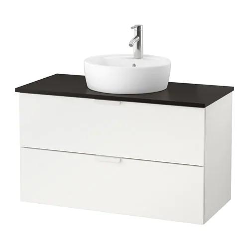 Шкаф с раковиной IKEA GODMORGON / TOLKEN / TÖRNVIKEN 102x49x74 см с ящиками белый антрацит 791.849.11
