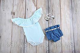 """Набір одягу для дівчаток """"Техас"""", Блакитний"""