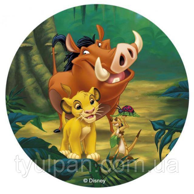 Вафельная картинка на торт король лев 4