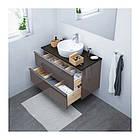Шкаф с раковиной IKEA GODMORGON / TOLKEN / TÖRNVIKEN 102x49x74 см с ящиками глянец серый антрацит 591.857.75, фото 2
