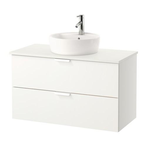 Шкаф с раковиной IKEA GODMORGON / TOLKEN / TÖRNVIKEN 102x49x74 см с ящиками белый 691.849.16