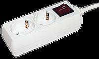 Удлинитель У02К с выключателем 2 места 2Р+РЕ/2 метра 3х1мм2 16А/250 IEK