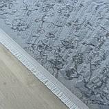 Элитные турецкие ковры, ковер хлопковый в полоску голубого цвета, фото 5