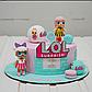 Вафельная картинка на торт кукла лол 44, фото 5