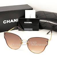 Женские солнцезащитные очки Chanel цветные коричневые изящная универсальная  модель качество люкс реплика 31ea5389473c3