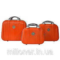 Комплект чемодан + кейс Bonro Smile (большой) оранжевый, фото 2