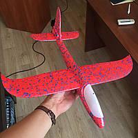 Метательный Самолетик планер Airplane из пенопласта розовый