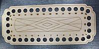 Органайзер для  мулине деревянный, 34 места. Размер общий 290х120 мм